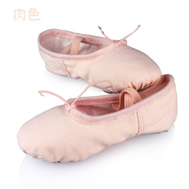 89d4e4880 Planos De lona zapatillas negro rojo blanco rosa zapatos De ballet para  niñas mujer Yoga profesor