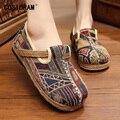 Primavera Mulheres De Cânhamo Flats Deslizar Sobre As Mulheres Sapatos Casuais Sapatos de Lona de Linho Das Senhoras Marca de Moda Plimsolls Calçado Feminino SNE-170