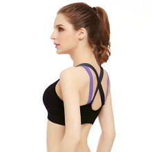 Women Seamless Racerback Padded Gym Sports Bra Yoga Fitness Stretch Workout Tank Tops Sports Underwear Fitness Top Bra 4 Colors