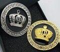 Hot 3D corona de metal diamond car styling decoración pegatinas auto emblema de la insignia de la personalidad accesorios de moda oro plata