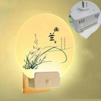 Bedroom Living Room Wall Lamp Girl Bedside Plug in Bed Decoration Night Baby Light Acrylic Stair Plug In Wall Light LED Lighting