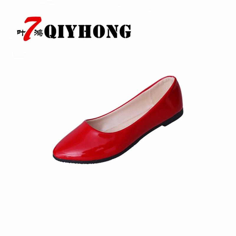 Tamaño grande Mujeres Pisos Zapatos de Color Caramelo Mujer - Zapatos de mujer