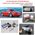 Car Parking Sensors + Rear View Back Up Camera = 2 in 1 / BIBI Alarm Parking System For Porsche 987 / Porsche Boxster