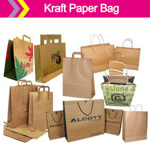 New Design 패션 종이 shopping bag/kraft paper bag/brown paper bag accept custom logo(China)