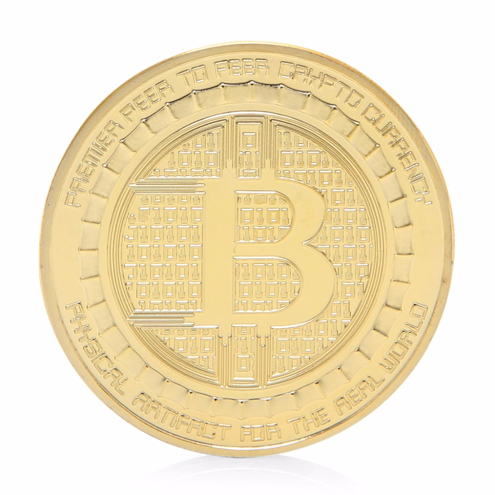 2017 Gold Plated Anonymous Mint Bitcoin Commemorative Coins Collection Souvenir Gift bitcoin commemorative coin 1pc