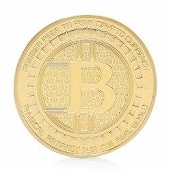 2017 Vergoldet Anonym Mint Bitcoin Gedenkmünzen Sammlung Souvenir Geschenk