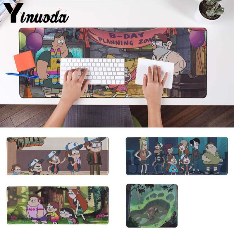 Yinuoda Boy Gift Pad Gravity Falls Laptop Gaming Mice Mousepad Size for 18x22cm 20x25cm 25x29cm 30x90cm 40x90cm