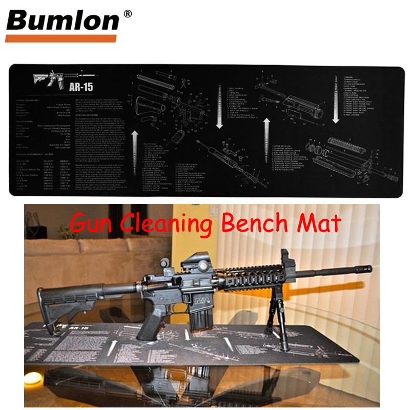 Glock Gun Cleaning Bench Mat Rubber Carpet Waterproof Non-slip With Instructions Armourist Mat For Tactical Hunting Airsoft To Clear Out Annoyance And Quench Thirst Hunting Gun Accessories Hunting