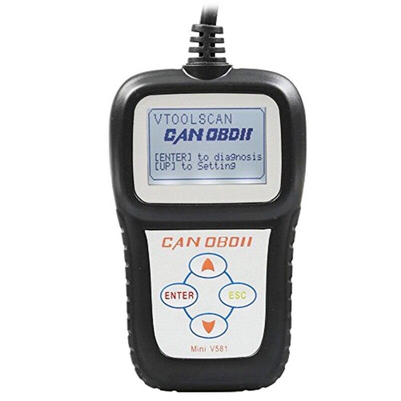 Novas Ferramentas de Verificação De Veículos Mini V581 Obd2 Mini Leitor de Código Eobd Scanner de Diagnóstico Automotivo