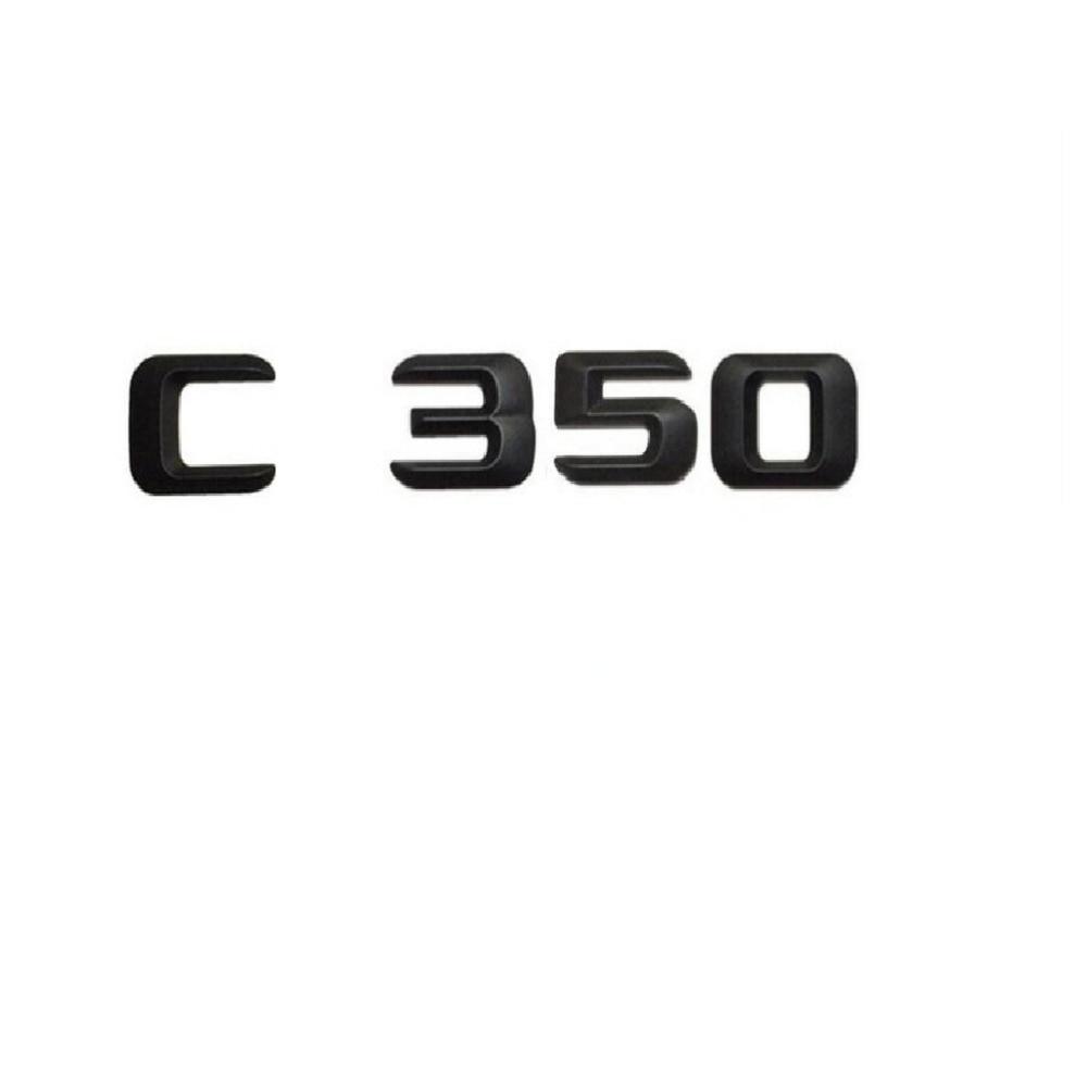 Matte Black Number Letters Words Badge Emblem Sticker for Mercedes-Benz GLK350