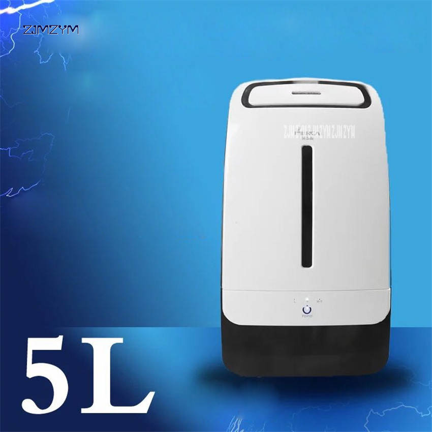 5L High Capacity Air Humidifier 220V/50 Hz Touch Air Humidifier Home High Capacity Mute Ultra-quiet Humidifier 1pc ME-206B home intelligent wetness floor style humidifier mute high capacity air purifier humidifier