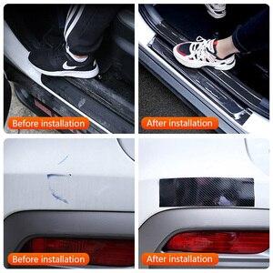Image 5 - 5D Auto Aufkleber Carbon Fiber Vinyl Wasserdicht Film Autos Tür Sill Stamm Stoßstange Protector Aufkleber und Abziehbilder Zubehör
