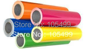 Cutting Vinyl Sticker Rolls 50cm x3' Heat Transfer PU Vinyl With Sticky Back 33colors Cutter Press