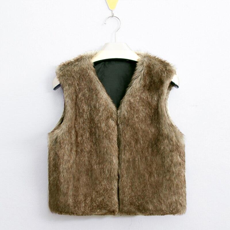 2017 High Grade Frauen Faux Pelz Outwear Weste V-ausschnitt Ärmellose Dünne Kurze Gilet Warme Luxus Natürliche Kaninchen Pelz Weste Q4956
