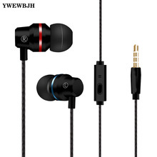 YWEWBJH Stereo Bass Headphone In-Ear 3.5MM Wired Earphones Metal HIFI Earpiece with MIC for Samsung For Huawei Phones цена в Москве и Питере