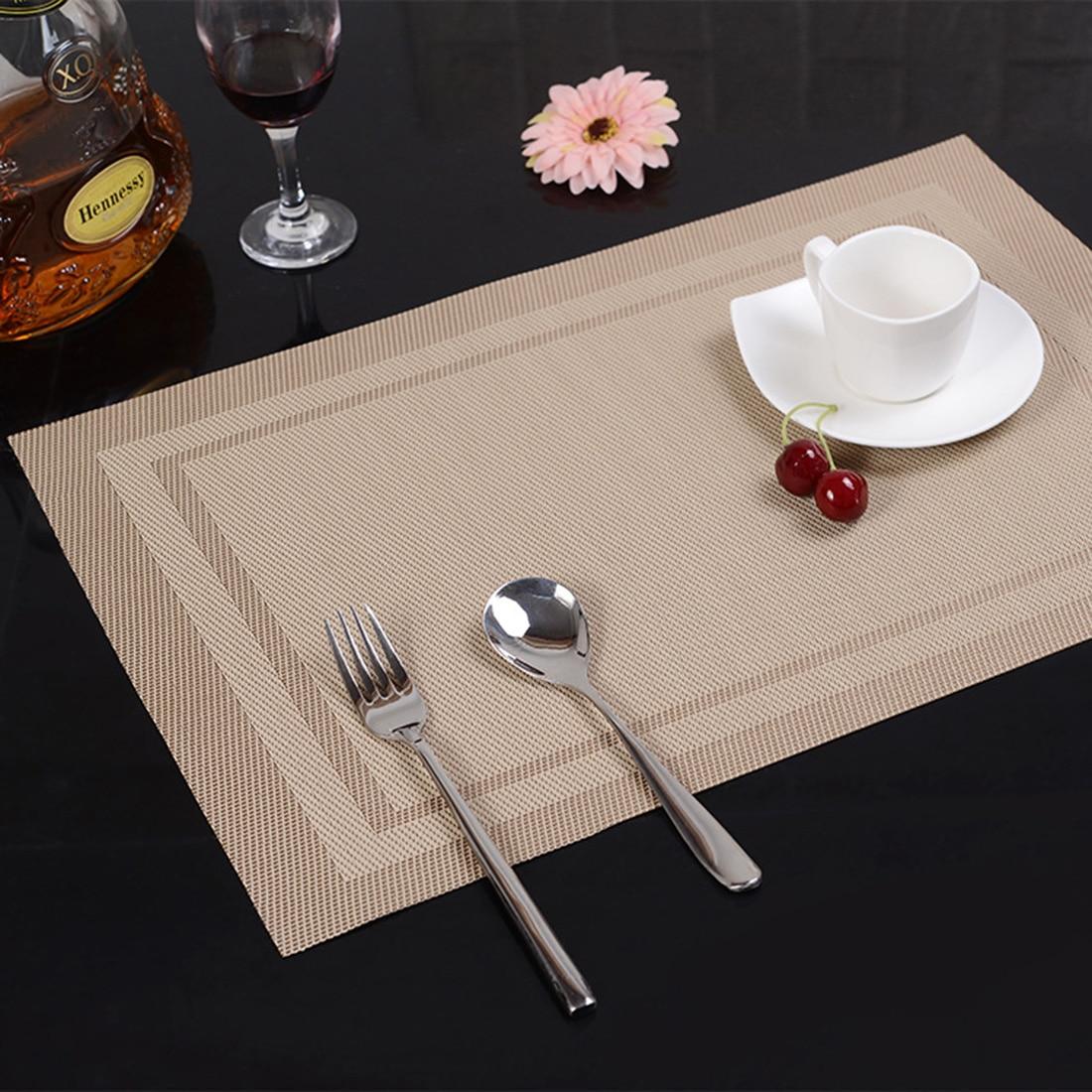 1pcs Placemat Fashion Pvc Dining Table Mat Disc Pads Bowl