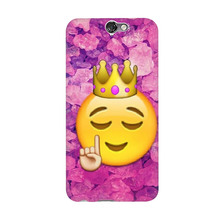 Funny Queen Emoji Cool Arrival UV Black Bag Case For HTC A9