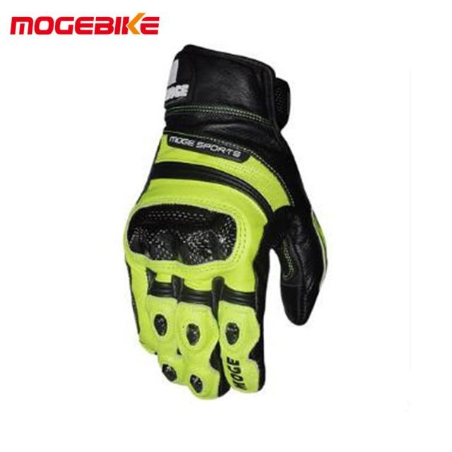 8a1dc5b1 Guantes de Verano de la motocicleta del invierno de la pantalla táctil  guantes de Color amarillo Moto racing guantes de bicicleta de conducción de  ...