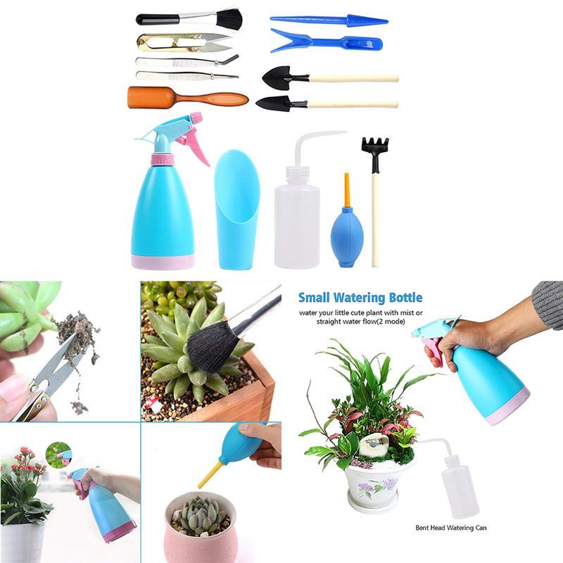 6Pcs Plastic Bonsai Succulent Tree Growing Kit Succulent Gardening Tools Set