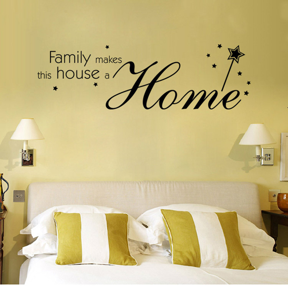 Home Letter Wall Stickers Quote Removable Vinyl Decal Art Mural Home ...