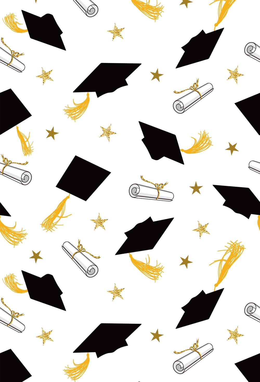 graduation party photography backdrop thin vinyl caps