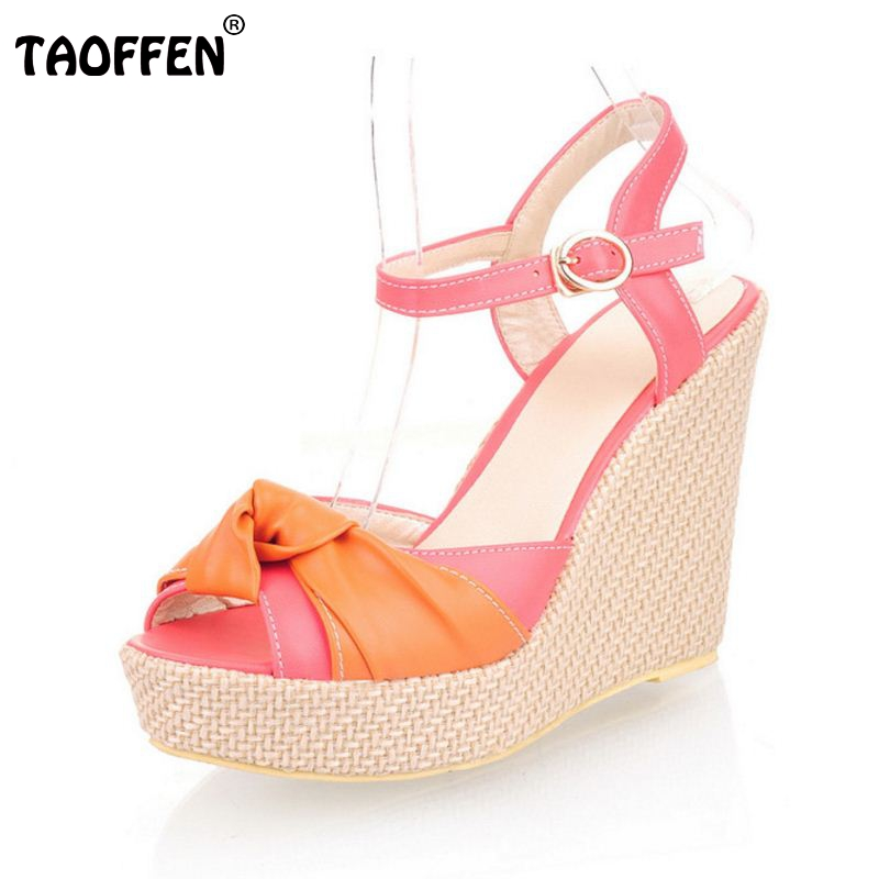 women high heel wedge sandals platform fashion dress lady sexy shoes heels quality pumps P5322 Hot sale EUR size 32-43 taoffen free shipping high heel shoes women sexy dress footwear fashion lady female pumps p13165 hot sale eur size 32 43