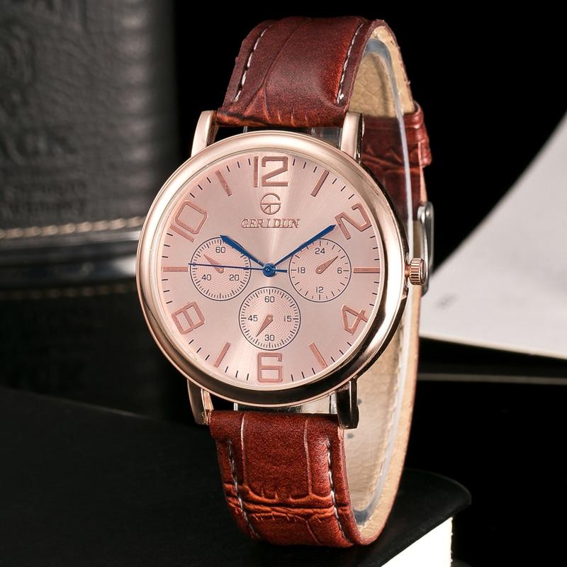 GERIDUN Reloj de los hombres de la marca de lujo famoso reloj de - Relojes para hombres - foto 2