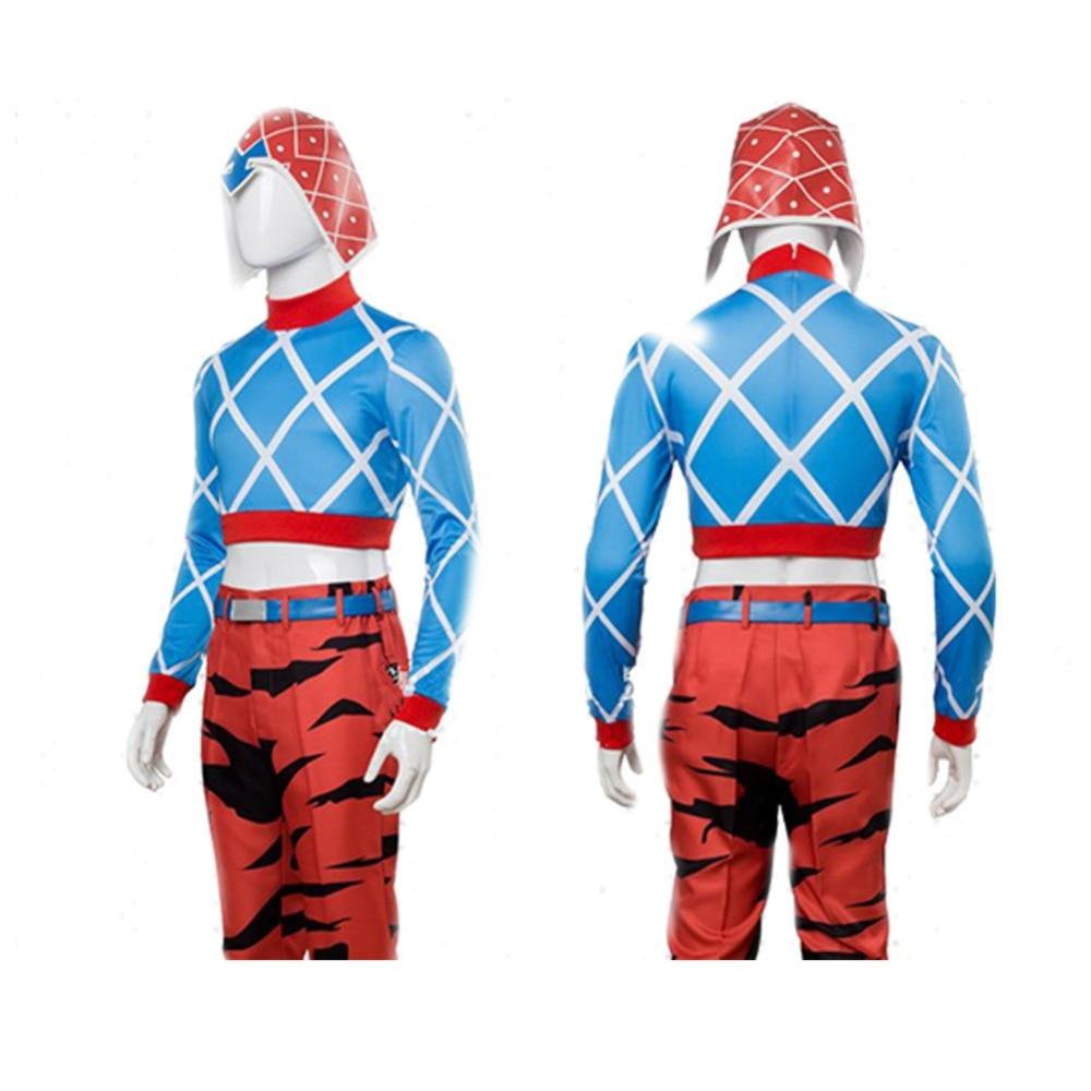 Anime JOJO/'S BIZARRE ADVENTURE GUIDO MISTA Cosplay Costume Full Sets Pants