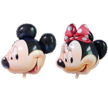 New Bow Mickey Mouse Foil Balloon Head Childrens Toys Baby Shower Party Decoration Kids Cute
