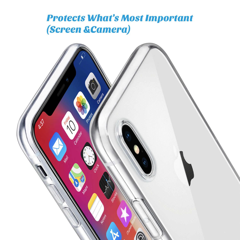 """Pour étui iPhone X, WEFOR mince clair étui en polyuréthane thermoplastique souple prise en charge sans fil de charge pour Apple 5.8 """"iPhone X/iPhone 10 (sortie 2017)"""