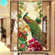PSHINY 5D DIY Diamond embroidery sale Good peacock Full Round rhinestone animals pictures Painting cross stich