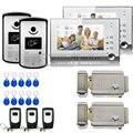 Chuangkesafe С слот для карты SD XSL Производитель 7 Дюймов Видео-Телефон Двери для Квартиры Домашней Безопасности с Домофоном