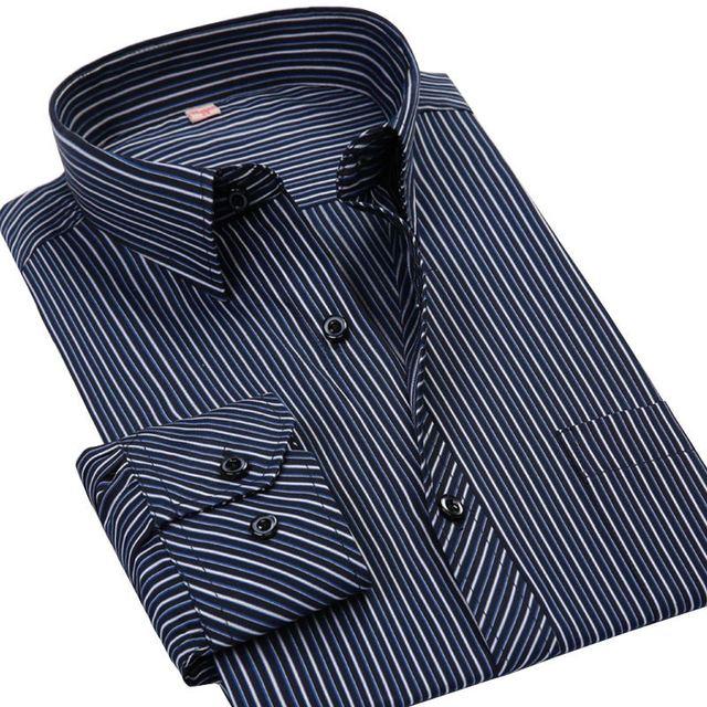 Весна 2017 С Длинным Рукавом Сплошной Цвет Twill Рубашка Мужчины Регулярный Fit отложным Воротником Без Железа Бизнес Случайный Платье рубашки Camisa