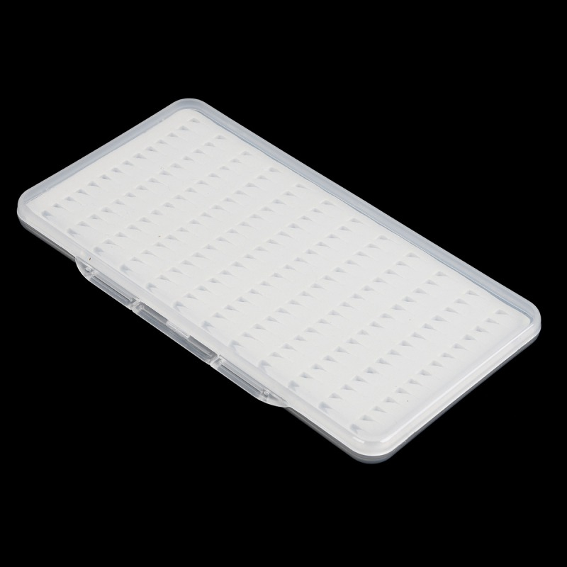 Image 3 - 3 Sizes Slit Foam Easy Grip Foam Fly Fishing Box Double Side Waterproof Plastic Tackle Box Transparent Fly Box0 TX005-in Fishing Tackle Boxes from Sports & Entertainment