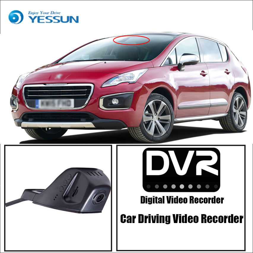 YESSUN DVR Dash-Cam Peugeot Registrator Driving Video-Recorder Control Wifi-Camera Mini