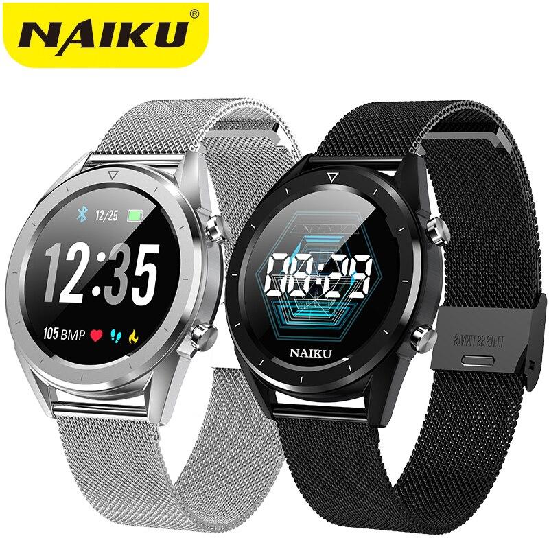 NAIKU DT28 Relógio Inteligente Tela Colorida OLED homens Da Moda de Fitness Rastreador Smartwatch Freqüência Cardíaca Pressão Arterial de Oxigênio PK Q8