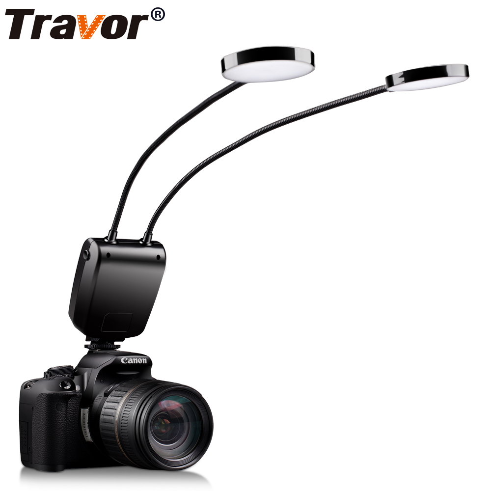 Travor ML-2D Macro Ring Flash Light Round Light For Most Model Of Canon Nikon Sony Olympus Pentax Panosonic Sony Mi Close Up