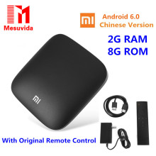 Original Xiaomi MI 3S TV BOX  2G 8G Android 6.0 Smart Set-top Box 4K Quad Core WIFI Youtube Bbluetooth TV Netflix Media Player