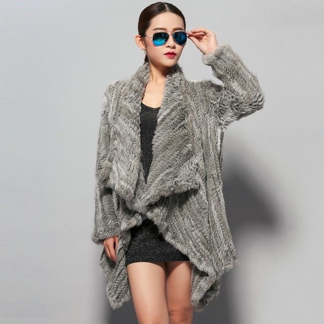 Aliexpress.com : Buy new real rabbit fur coat jacket biggest size ...