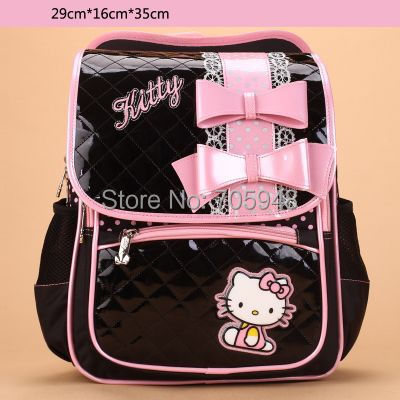 5c617b6daebc pencil case + pink black 29x35x16 sanrio Hello Kitty children kid Backpack  school travel shoulder bag 1 4 grade primary school-in School Bags from  Luggage ...