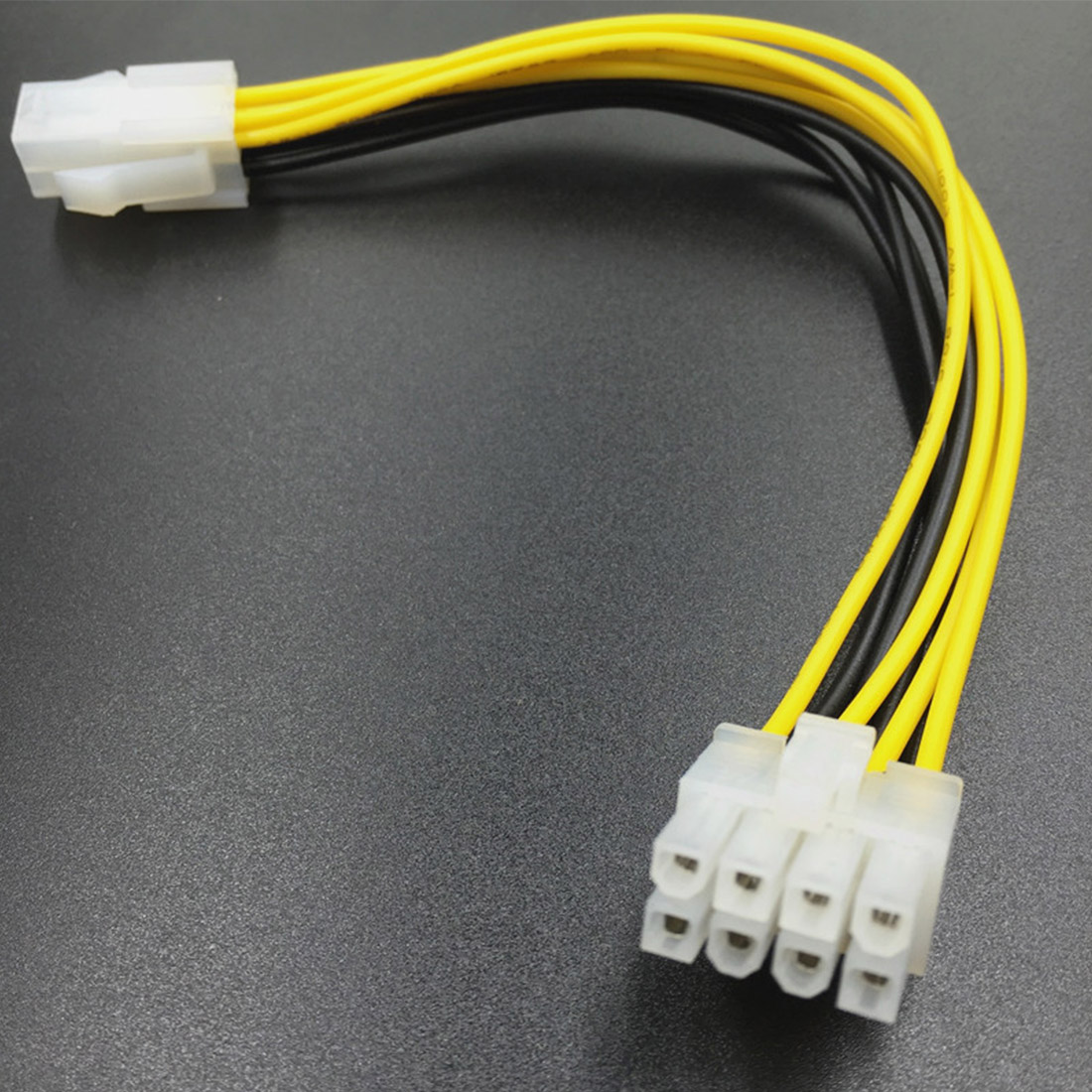 20cm  Adapter 4P To 8P Motherboard CPU Power Converter Cable 4 Pin Male To 8 Pin Female Lead