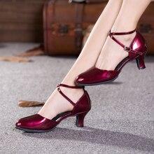 Mujeres señora danza moderna Zapatos vino rojo pu Salón partido Tango salsa  baile rendimiento Tacones interior suela de gamuza Z.. 618f8abba67