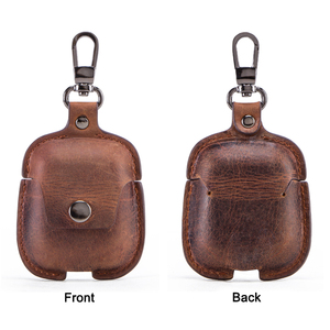 Image 2 - Genuine Leather Bluetooth Wireless Earphone Case For AirPods 2 Protective Cover Skin Accessories For Apple Airpods Charging Box