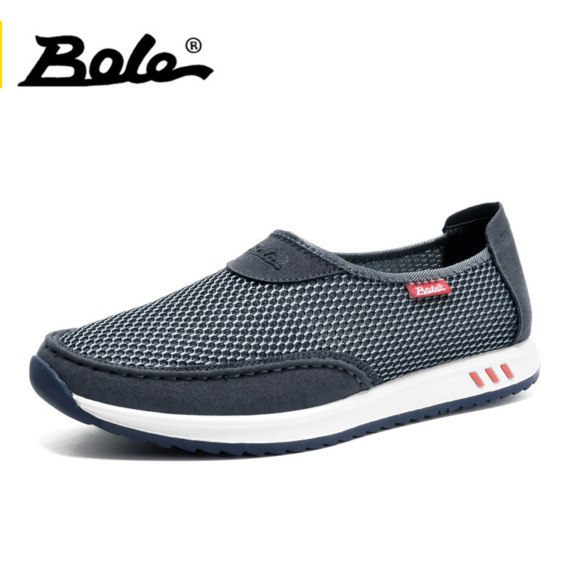BOLE Fashion Design Mesh Shoes 2017 Summer Casual Men Shoes Breathable Shoes Man Slip on Flats For Man Loafers Plus Size 38-45 соус чили pearl river bridge yellow lantern chili sauce 240 г