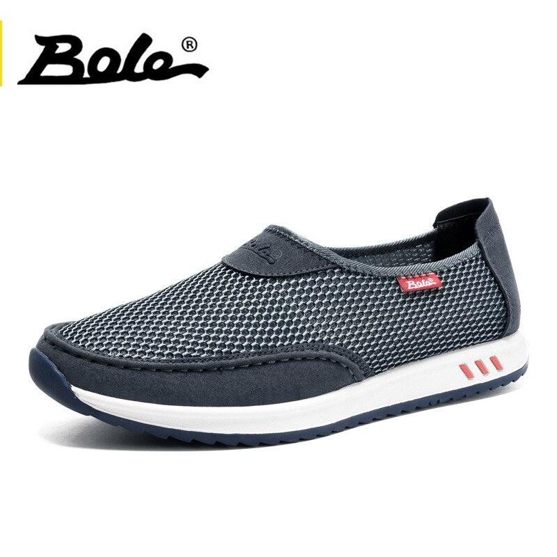 BOLE Mode-Design Mesh Schuhe 2017 Sommer Casual Männer Schuhe Atmungsaktiv schuhe Mann auf Wohnungen Für Mann Faulenzer Plus Größe 38-45