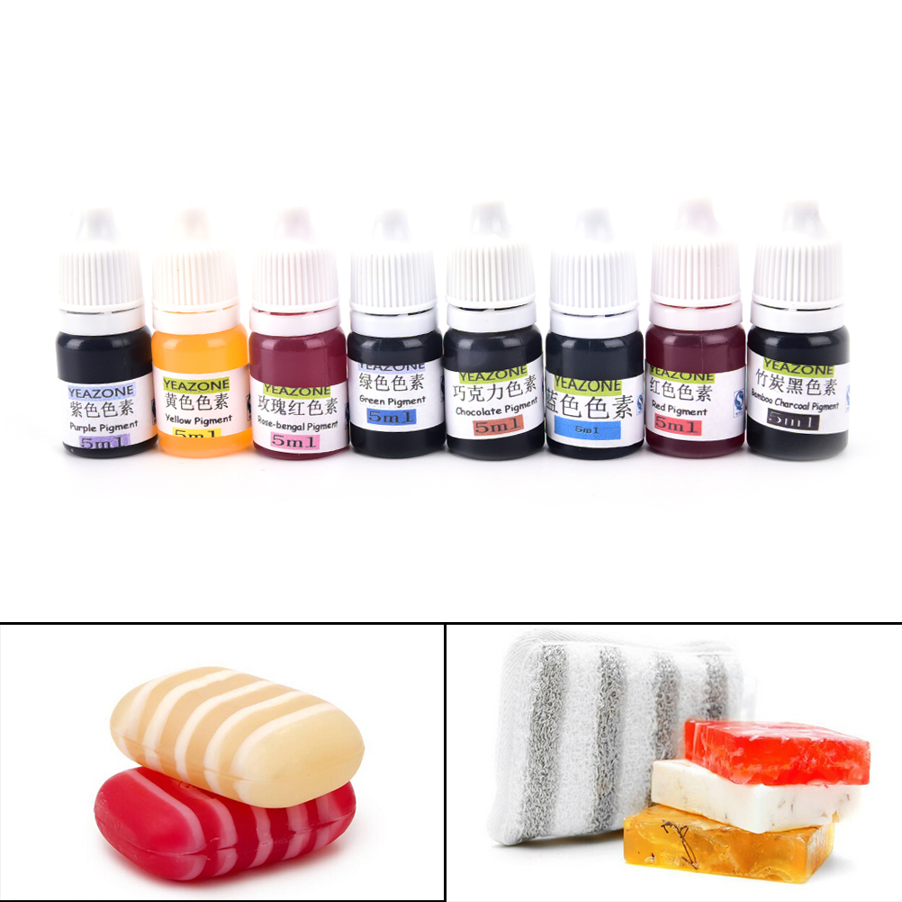 5ml Handmade Soap DYE Pigments Colorant Toolkit Materials Hand Made Soap Base Colour Liquid Pigment 8 Colors Hot Sale