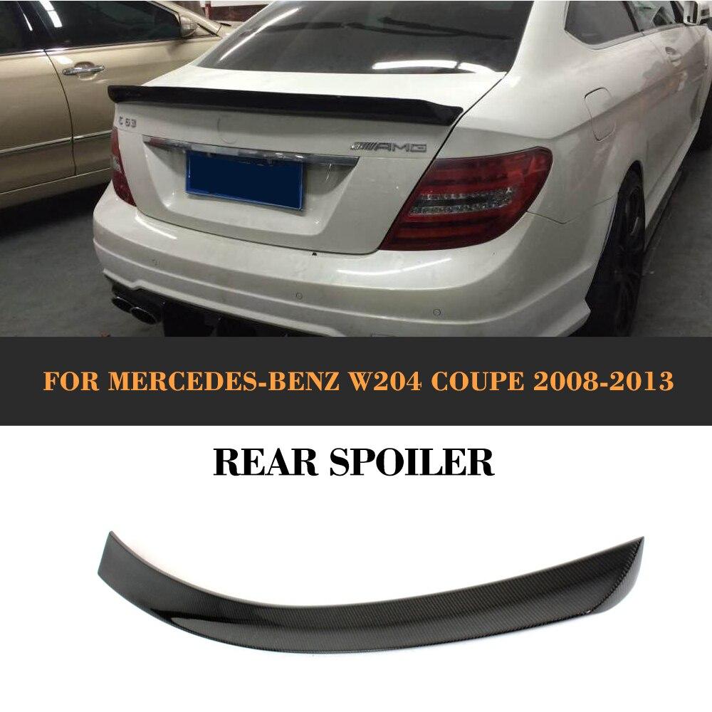 C Class Carbon Fiber Rear Trunk Boot Spoiler Lip Wing For