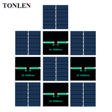 TONLEN 10PCS Epoxy Solar Panel 3 V 150mA Solar Cell 60*55mm DIY Solar System Battery Charge Module Photovoltaic Solar Panel