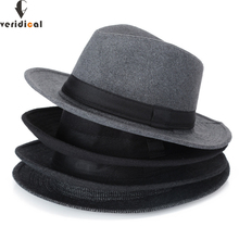 VERIDICAL 2018 Autumn Winter Sun Hat Women Men Fedora Hat Classical Wi