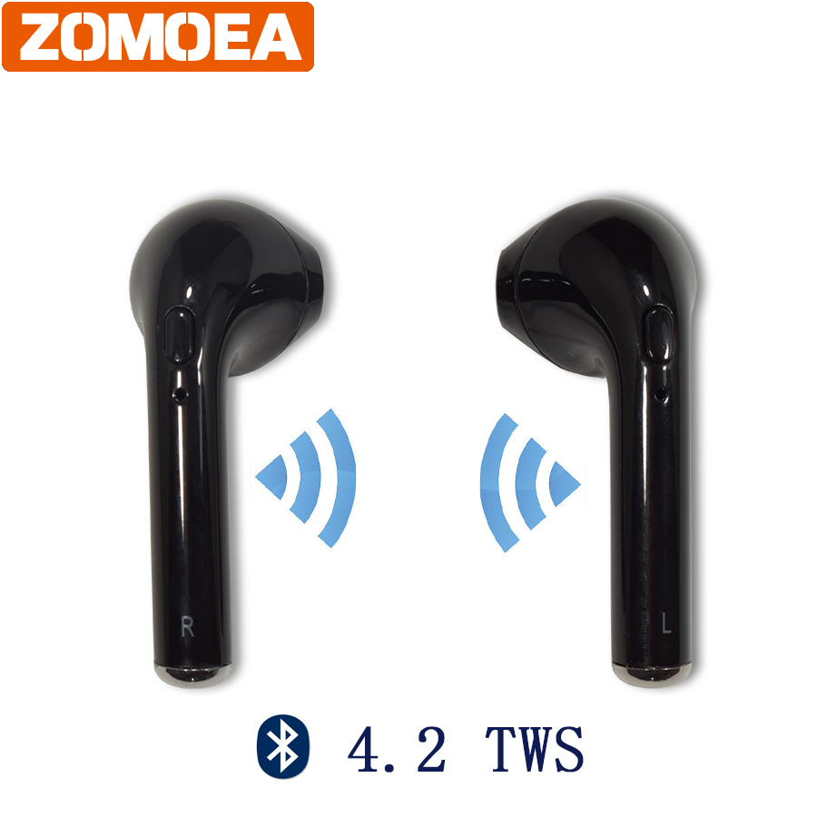 Subwoofer Stereo Bluetooth 4.2 TWS Headset Earphone Headphone Stereo Wireless Handfree Earbuds Universal for iPhone Android Etc sport mini stereo bluetooth earphone v4 0 wireless crack headphone earbuds hand free headset universal for samsung iphone7 sony